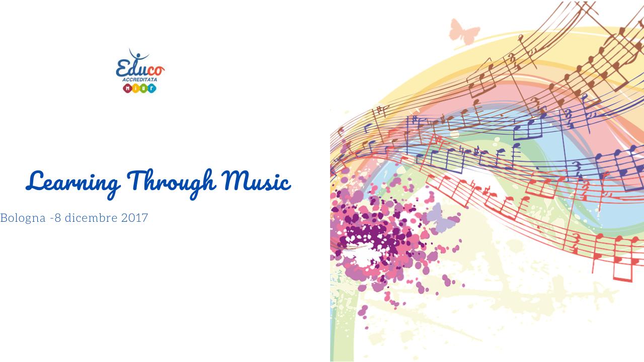 corso aggiornamento learning through music