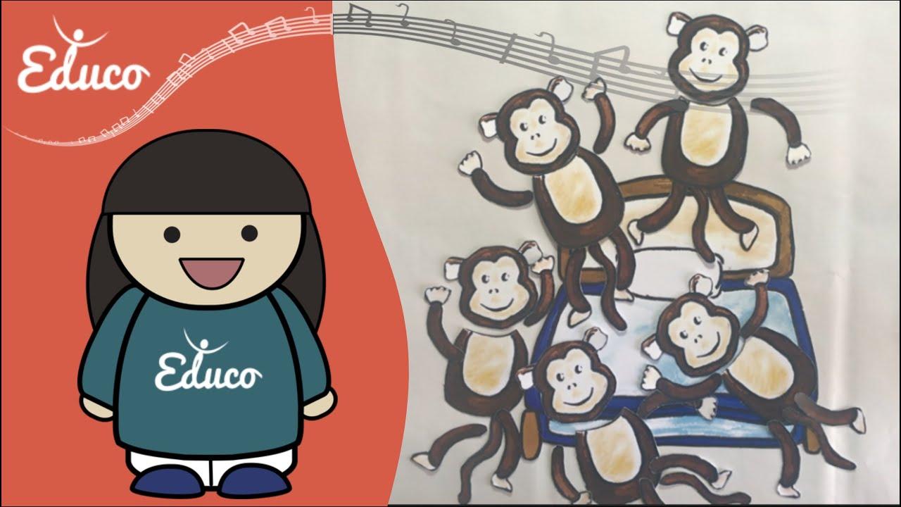 filastrocca in inglese five little monkeys