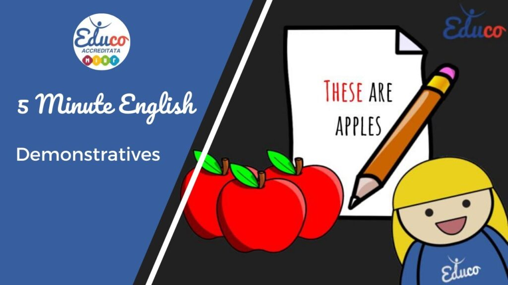 demonstrative adjective grammatica inglese