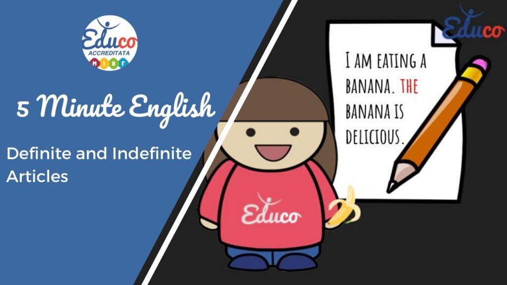 articoli definiti e indefiniti grammatica inglese