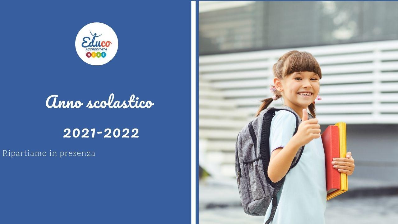 buon anno scolastico 2021-2022 con i progetti di Educo